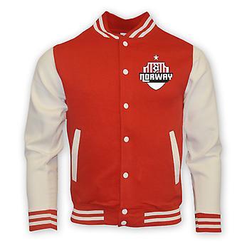 Norway College Baseball Jacket (red) - Kids