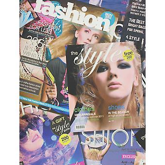 Fashion behang tijdschrift Print meisjes slaapkamer typografie metalen veelkleurig