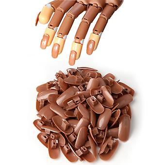 100pcs refill tips to the nail Training hand