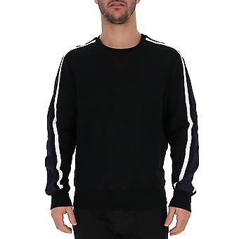 Alexander Mcqueen White/black Cotton Sweater