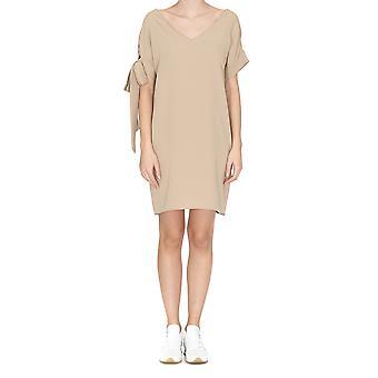 P.a.r.o.s.h. Panterya Beige Cotton Dress