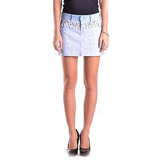 Dolce E Gabbana Light Blue Baumwollrock