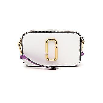 Marc Jacobs Snapshot White/purple Polyurethane Shoulder Bag