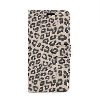 Samsung Galaxy S10e cartera cubierta caso leopardo Beige