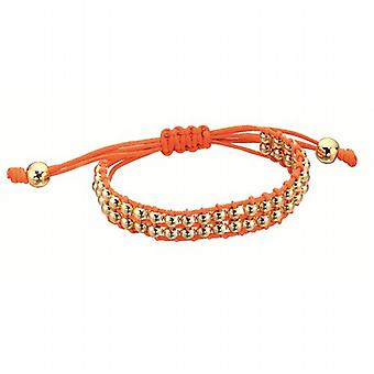Fiorelli Orange cavo con Goldtone perline braccialetto