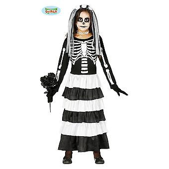 Guirca Bride Costume Skeleton for Girls Zombie Bride