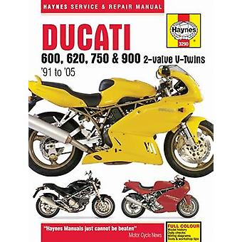 Ducati 600 - 750 & 900 2-Valve V-Twin Service and Repair Manual by Pe