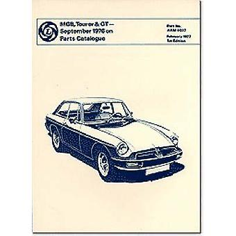 MGB - Tourer & GT Sept. 1976 on Parts Catalogue by Brooklands Books L