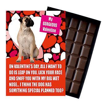 Bullmastif gåva för alla hjärtans dag presenterar för hundälskare boxed choklad
