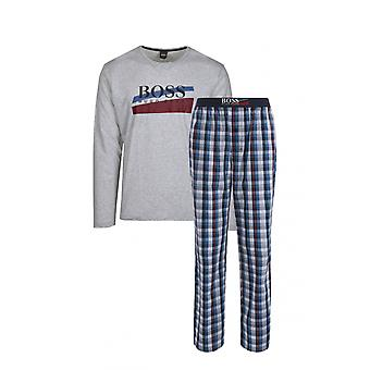 BOSS Footwear & Accessories Boss Pyjama Urban Long Set Medium Blue