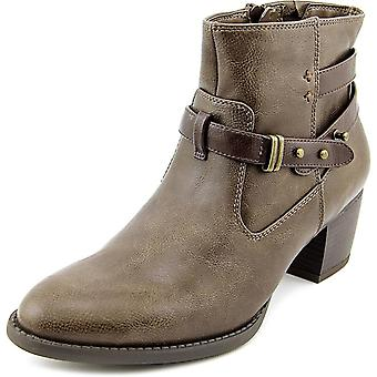 White Mountain Womens ROTARY Leather Round Toe Ankle Cowboy Boots
