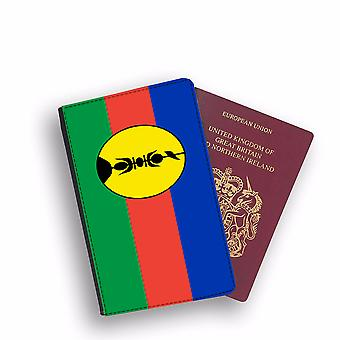 NEW CALEDONIA Flag Passport Holder Style Case Cover Protective Wallet Flags design