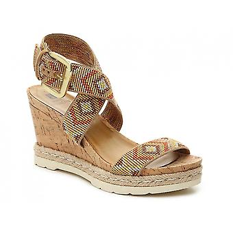 White Mountain Womens Pearl Fabric Open Toe Casual Platform Sandals