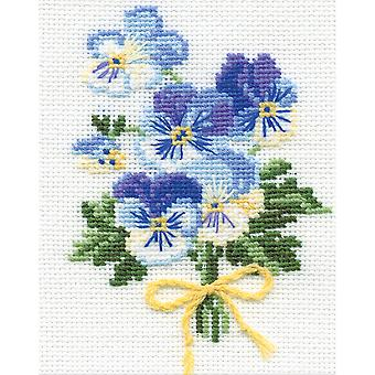 Violas Counted Cross Stitch Kit-5