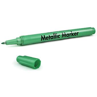Metallic Permanent Marker .7mm Extra Fine Point-Green Metallic SW462-D