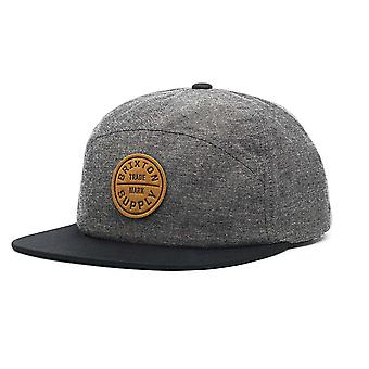 Brixton ed 7 Panel Cap Charcoal Black