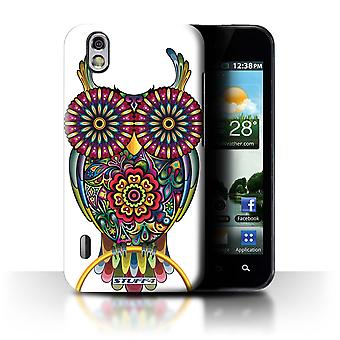 STUFF4 Case/Cover for LG Optimus Black P970/Owl/Ornamental Animals