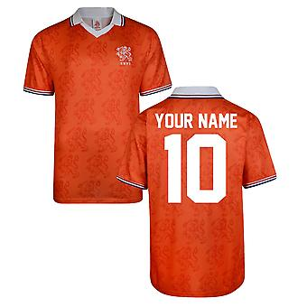 Score Draw Holland World Cup 1994 Home Shirt (Your Name)