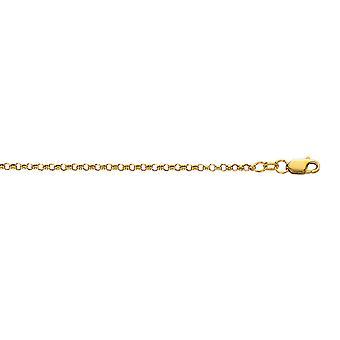 10k gult gull 2.30 mm gnisten-Cut Rolo kjeden Anklet med hummer lås - 1.4 gram - 10 tommers