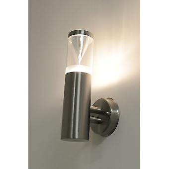 Outdoor Sconce Keoma wall stainless steel IP44 E27