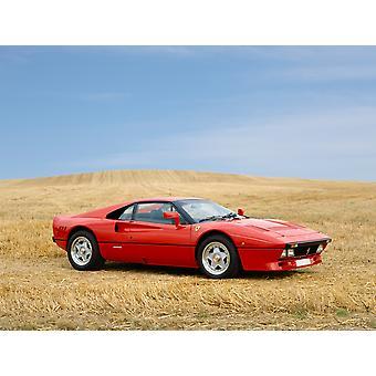 1986 フェラーリ 288 GTO Belinetta 28 リッター ツインターボ原産イタリア ポスター印刷