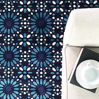-Tanger-moderne blå Mosiac geometriske Hall Runner tæppe