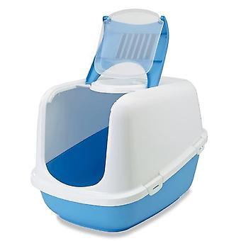 Toilettes de chat Nestor Jumbo blanc/pacific Blue 66.5x48.5x46.5cm (Pack de 3)