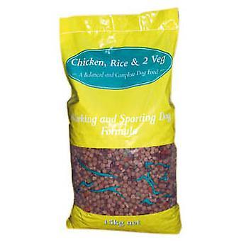 Kambriske hund Adult kylling ris & 2 Veg 15kg