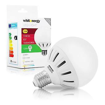 WHITENERGY LED pære 15 x SMD 2835 LED G95 E27 12W 175-250V hvid varm (10079)