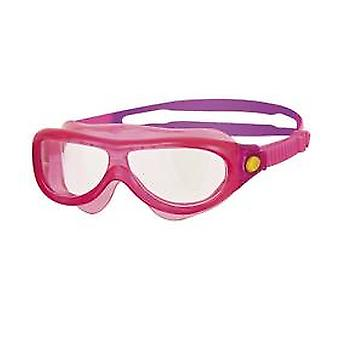 Zoggs Phantom Kids Swim Mask 0-6yrs- Clear Lens - Pink Frame