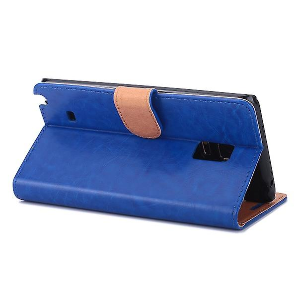 Wallet Deluxe bag blue for Samsung Galaxy touch edge N915 N915F