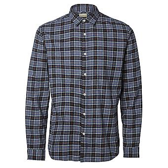 Wes Checked Shirt in Blue