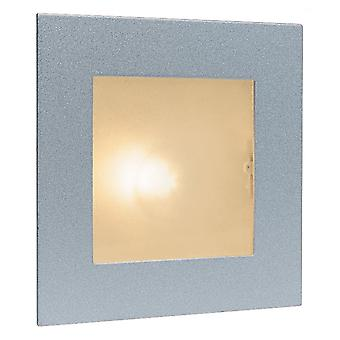 Firstlight Minimalist Satin Steel Hallway Wall & Step Light