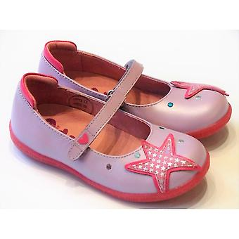 Agatha Ruiz De La Prada Agatha Ruiz De La Prada Purple Leather Mary Jane Shoes With Starfish