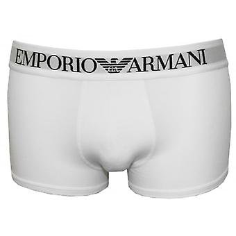 Emporio Armani Premium Stretch Cotton Boxer Trunk, White
