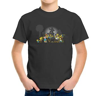 Yellow Fever the Simpsons Walking Dead Kid's T-Shirt
