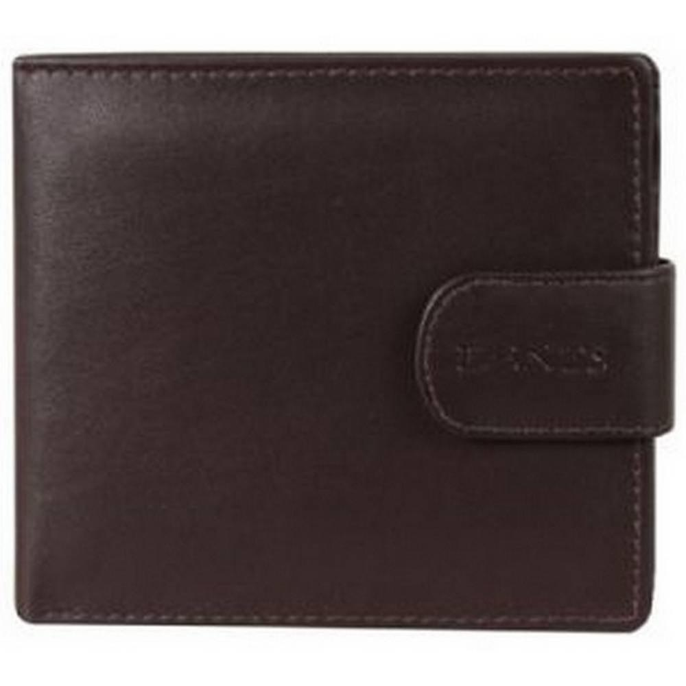 Dents Leather Coin Pocket Bill-Fold Wallet - Chocolate Brown