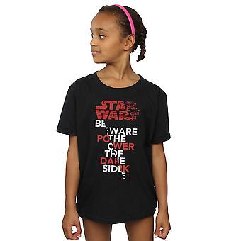 Star Wars Girls The Last Jedi Power of the Dark Side T-Shirt