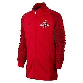 2017-2018 Spartak Moscow Nike Authentic Franchise Jacket (Red)