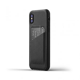 Mujjo Full Leather Wallet Case-genuine leather wallet case for iPhone X-Black
