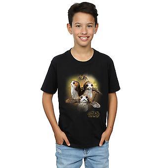 Star Wars jongens de laatste Jedi Porgs geborsteld T-Shirt