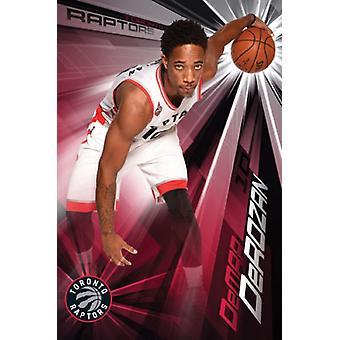 Toronto Raptors - DeMar Derozan 15 Poster Poster Print