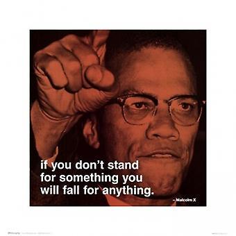 Malcolm X - iPhilosophy - stehen für etwas Plakat Poster Print