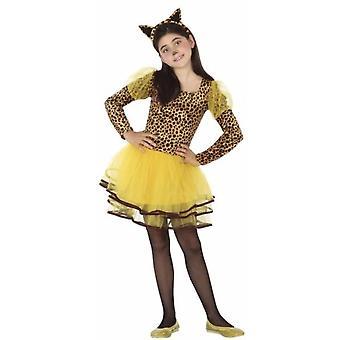 Tierkostüme Leopard Kleid für Mädchen