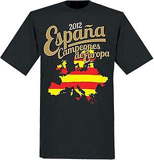 Spain Campeones de Europa T-Shirt (Black)
