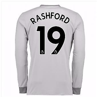 2017-2018 Manchester United dritte Hemd mit langen Ärmeln (Rashford 19)