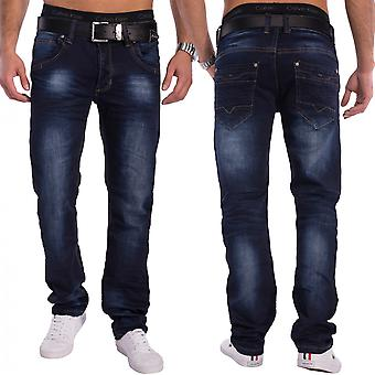 Men's regular fit denim Pant denim dark wash dark blue pants washing