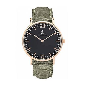 Truncated and Son Watch Black Olive Canvas Campina 4251145223762