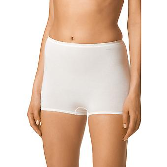 Mey 89038-1 Women's White Solid Colour Knicker Shorties Boyshort
