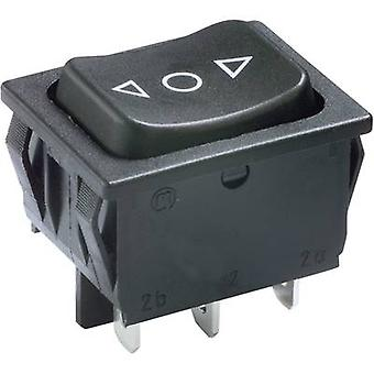 Toggle switch 250 V AC 6 A 2 x (On)/Off/(On) Marquardt